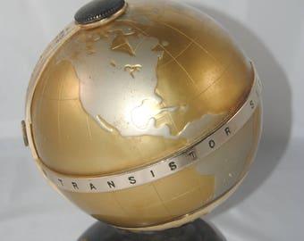 Working Vintage Fleetwood Transistor Six globe-shaped radio