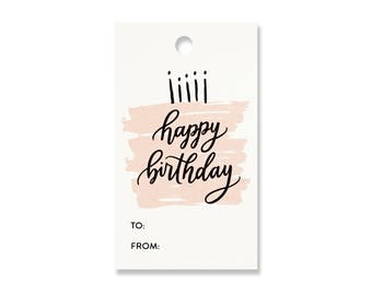 Happy  Birthday Candles Gift Tags - Pack of 10