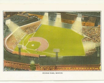 """1993 Postcard- Vintage View of Fenway Park, Red Sox, Baseball, Boston, Suffolk County,  Massachusetts, MA. ~ 4""""x 6"""", Outstanding Condition"""