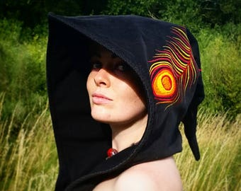 Phoenix Feather Embroidered Hood