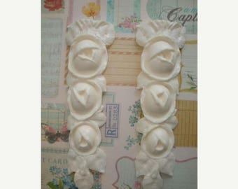 Sale 10% French Cabbage Rose Drops Furniture Applique Architectural Mount Embellishment