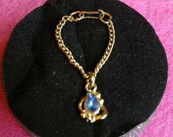 MINT Vintage Barbie RARE Necklace A 1962 Cleiman & Sons Blue SAPPHIRE Necklace