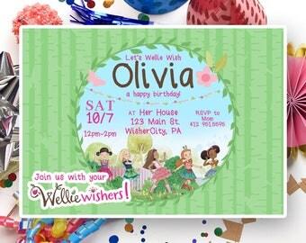 Wellie Wishers American Girl Doll Birthday Custom Invitation Digital File Only