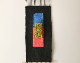 Large Wall Weaving Hanging, Modern Woven Wall Hanging, Woven Tapestry, Contemporary Fiber Art, Woven Wall Art, Fiber Hanging