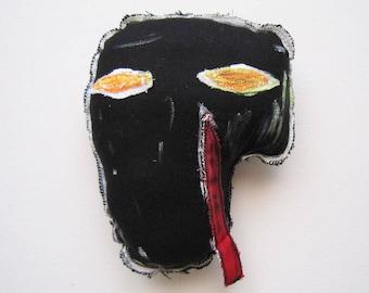 Black mask basquiat black artist music 80' madonna new york style art wall hangings sculpture pop unisex gift mask gift birthday graduation