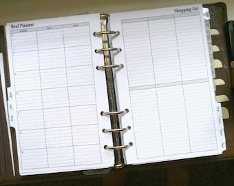 Franklin Covey Compact Menu Plan Printable