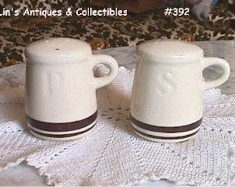 McCoy Pottery on Sale, McCoy Pottery Vintage Pasta Line Or Stonecraft Shaker Set, McCoy Pottery Reduced Price (Inventory #392)