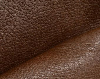 "Grunge Chocolate Brown Leather New Zealand Deer Hide 8"" x 10"" Pre-cut 2-2 1/2 ounces DE-64285 (Sec. 4,Shelf 6,C)"