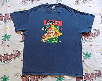 Vintage 90's Pizza Hut Pepsi Ad Campaign T shirt, size XL by Delta junk food double sided Promo