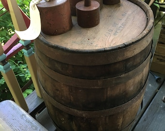 RARE Primitive Wooden Wine Barrel from 1800's, Heavy Duty, Authentic!, See Shipping details in description