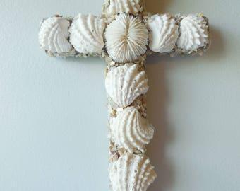Sensational SeaShell Wall  Cross-Shell Cross-Seashell Art-Shell Crucifix