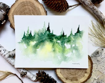 Little Tree Painting - Original Watercolor Painting