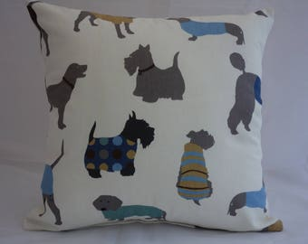 Pillow - Dog design feature cushion, complete with cushion pad, zip fastening