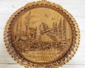 Deer Decor Wood Carving, ...