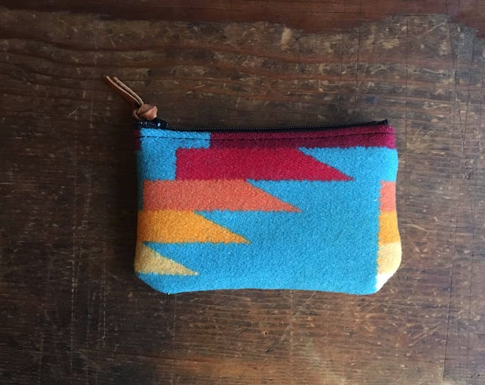 PNW Wool zipper card wallet - SALE