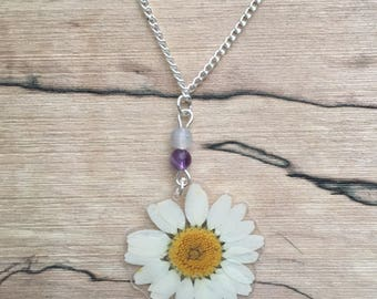 Daisy - Pressed Flower Necklace