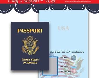50% OFF Play Passport United States - PDF JPG Instant Download Printable Digital File