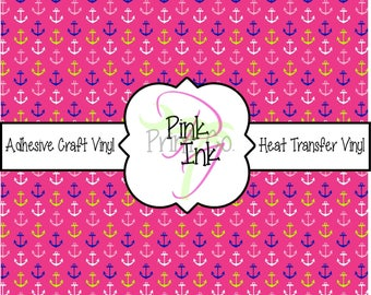 Beautiful Patterned Craft Vinyl and Heat Transfer Vinyl in Anchor Pattern