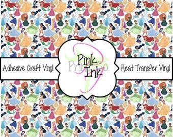 Disney Printed Vinyl, Disney Patterned Craft Vinyl and Heat Transfer Vinyl in pattern Disney 28