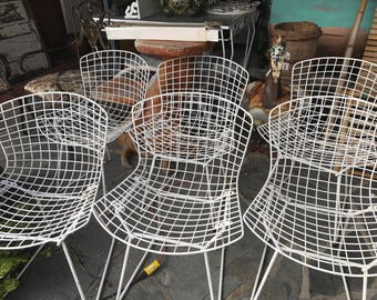 mid century modern iconic set of six bertoia side chairs for knoll