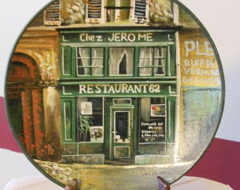 Collectible French Store Front Plate by Artist Chiu Tak Hak