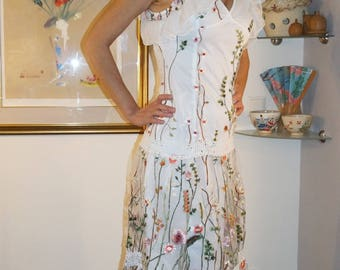 Elegant Floral Embroidered Dress