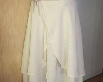Skirt portfolio, cotton natural, ivory and taupe, 38 to 42