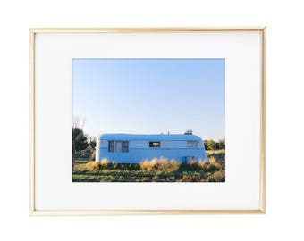 Marfa / Texas / Blue El Cosmico Camper / Photo Print