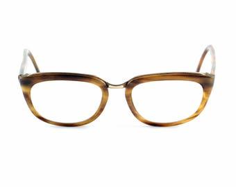 Vintage eyeglasses brown frame patterned brown specs glasses