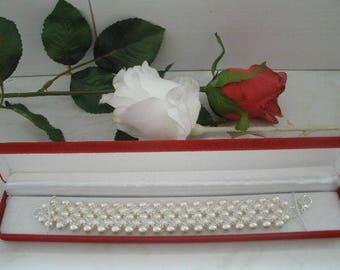 Bracelet with glass pearls and swarovski bicones