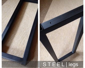 "1.5"" Square Steel Table Legs (Set of 2)"