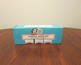 200 Vintage 1960s 1970's NOS Rexall cotton squares original box unused unopened (62417)