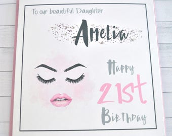 Personalised Birthday Card Sister Friend Wife Daughter Granddaughter18 21 30 40 ....