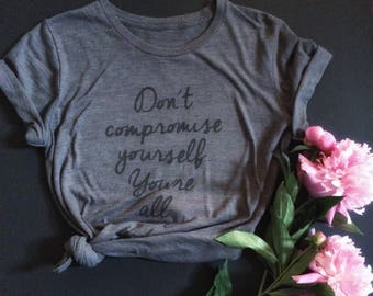 Womens Janis JOPLIN Tshirt / Dont compromise yourself tee