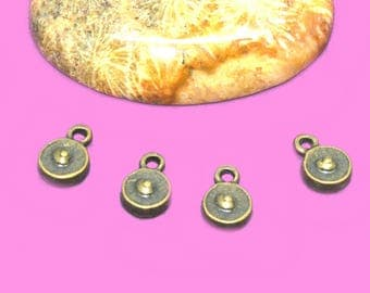 30 charms 9mm bronze sequins