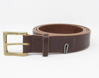 Gents Old English bridle butt leather belt