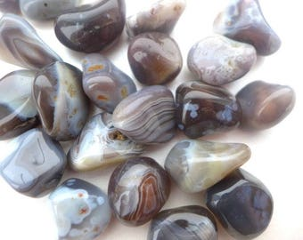BOTSWANA AGATE - Tumbled, Undrilled, Rocks and Minerals, Polished Rocks, Polished Stones - 1pcs