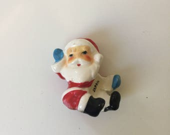 Vintage Japan Santa Claus Candle Decoration 1950s Christmas