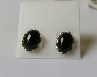 Black Onyx in sterling silver