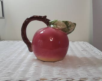 Vintage Italian Peach Pitcher