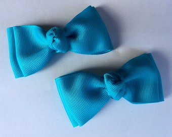 Set of pigtail bows- choose your color