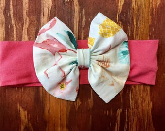 Summer Trends Headband Bow- Coral band