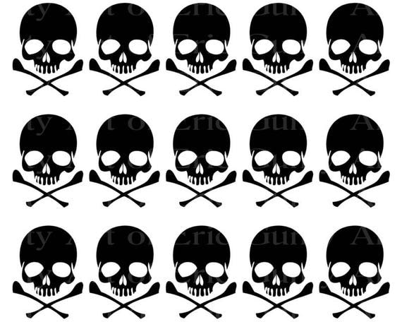 Halloween Skulls Birthday - Designer Strips - Edible Cake Side Toppers- Decorate The Sides of Your Cake! - D22521