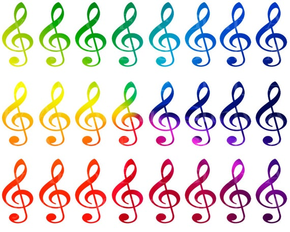 Rainbow Music Band Notes Birthday - Designer Strips - Edible Cake Side Toppers- Decorate The Sides of Your Cake! - D22694