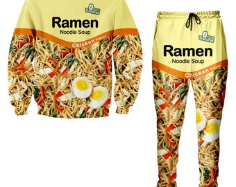 Chicken Ramen Noodle Tracksuit, Chicken Ramen Noodle Sweater and jogger pants