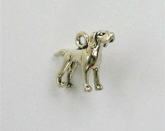 Sterling Silver 3-D Pointer Dog Charm