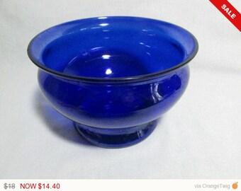 spitton bowl derepression glass cobalt blue