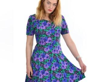 Vintage 90's Floral Print Grunge Dress