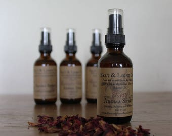 Rose Aroma Spray/Organic/Skin Toner/Body Mist/Linen Spray/Air Freshener