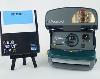POLAROID EXPRESS 600, tested and with Impossible Project film! Analog retro vintage party camera! 040